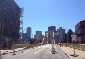 Pittsburgh PA Bridge Protected Bike Lane