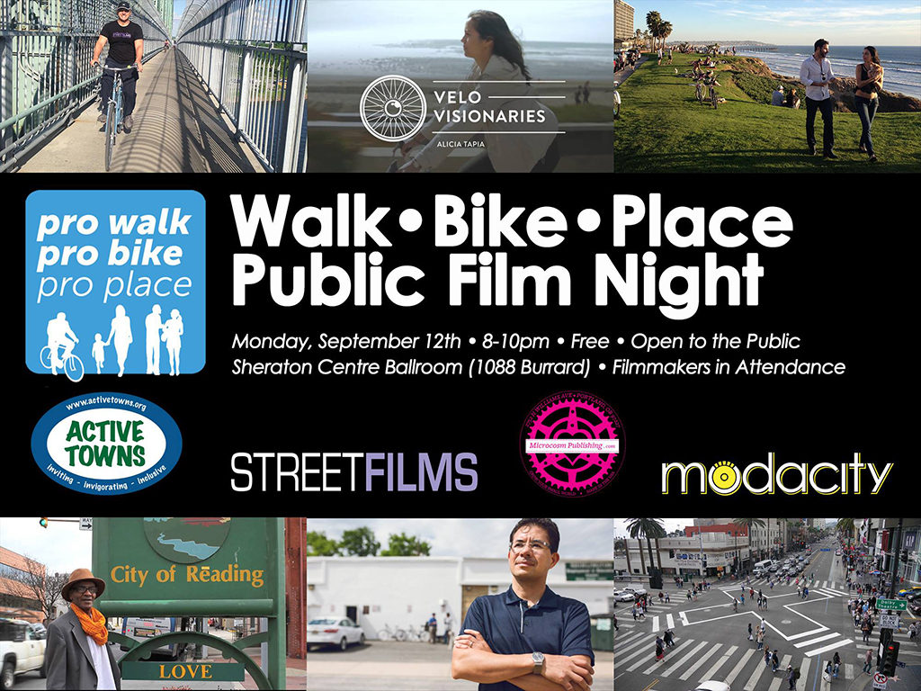 Walk Bike Place FREE Public Film Night